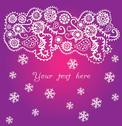 Stock Illustration of ornamental christmas background, snowfall
