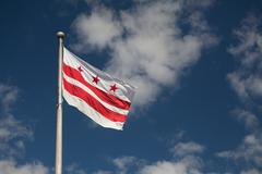 State Flag of Washington, DC - stock photo