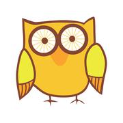 Stock Illustration of cute owl. vector bird.