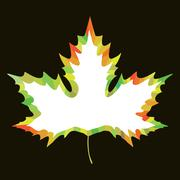 Maple leaf design Stock Illustration