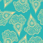 chinese seamless pattern with paisley. - stock illustration