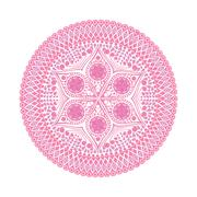 Vector, round lace doily background for sewing, arts, crafts, scrapbooks, set Stock Illustration