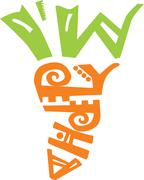 Carrot contains two parts: the top made of words 'i am' and the bottom made o Stock Illustration