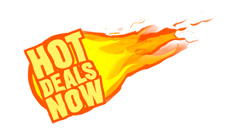 Hot Deals Now Animated Retail Graphic Stock Footage