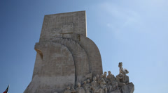 Monument To The Discoveries In Belem Lisbon Stock Footage