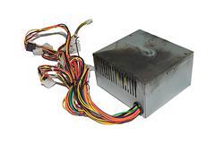 Burnt power supply - stock photo