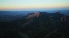 Aerial View: Kara Dag Mountain. Crimea, Ukraine. Summer 2013 Stock Footage