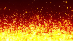 Fiery Particles Background Stock Footage