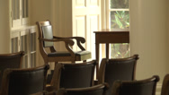 Stock Video Footage of int. rotunda study area CU