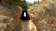 Europe Spain Balearic Ibiza coves and landscapes 057 outside red grotto Stock Footage