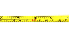 Tape measure on white Stock Footage
