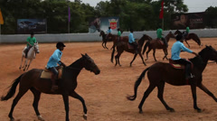 Horse riders in the club Stock Footage