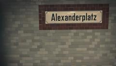 Berlin Alexanderplatz U-bahn Station Stock Footage