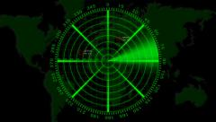 Radar animation with alpha channel Stock Footage