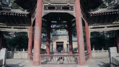 Traditional Chinese temple building Stock Footage