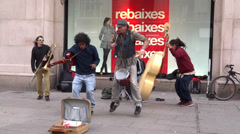 Street music band Stock Footage