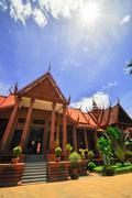 National museum in phnom penh - cambodia Stock Photos