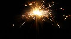 Christmas sparkler - stock footage