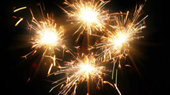 Christmas sparklers Stock Footage