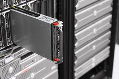 Server in blade chassis Stock Photos