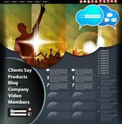 Music Website Template - stock illustration
