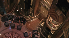 Cruise ship luxury atrium elevators dance floor HD 1858 Stock Footage