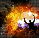 Stock Illustration of Crowd at the music concert. Vector