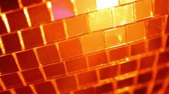 Orange disco ball Stock Footage