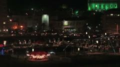 Old San Juan Puerto Rico carnival festival night lights HD 0768 Stock Footage