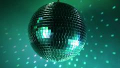 Multicolor disco ball - stock footage