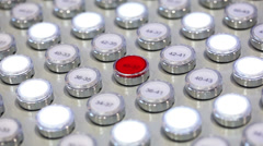 Buttons of control panel Stock Footage