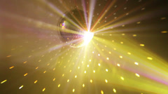 Multicolor party disco ball - stock footage
