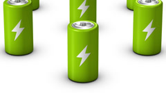 Endless Batteries vertigo effect (Green) - stock footage