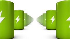 Endless Batteries low angle loop (Green Stock Footage