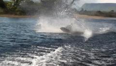 Wakeboard 180 fail #2 Stock Footage