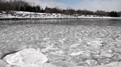 Undulating ice floe - stock footage
