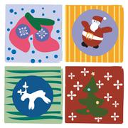 Stock Illustration of Christmas little cards