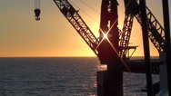 Stock Video Footage of 0246 Crane at the seashore