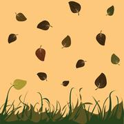 Leaves - stock illustration