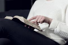 woman study the holy bible - stock photo