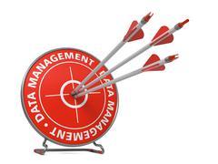 Data Management Concept - Hit Target. Stock Illustration