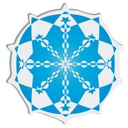 Snow flake sticker - stock illustration