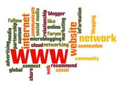 Stock Illustration of www word cloud