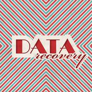 Stock Illustration of Data Recovery Concept on Striped Background.