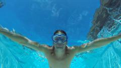 swimming in pool - stock footage