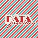 Stock Illustration of Data Protection Concept on Striped Background.