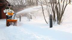 Working snow blower Stock Footage