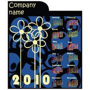 Stock Illustration of Promotional calendar for 2010