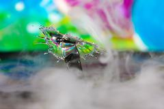 colorful water drop sculptures - stock photo