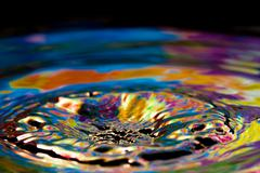 colorful and creative water drop creations - stock photo
